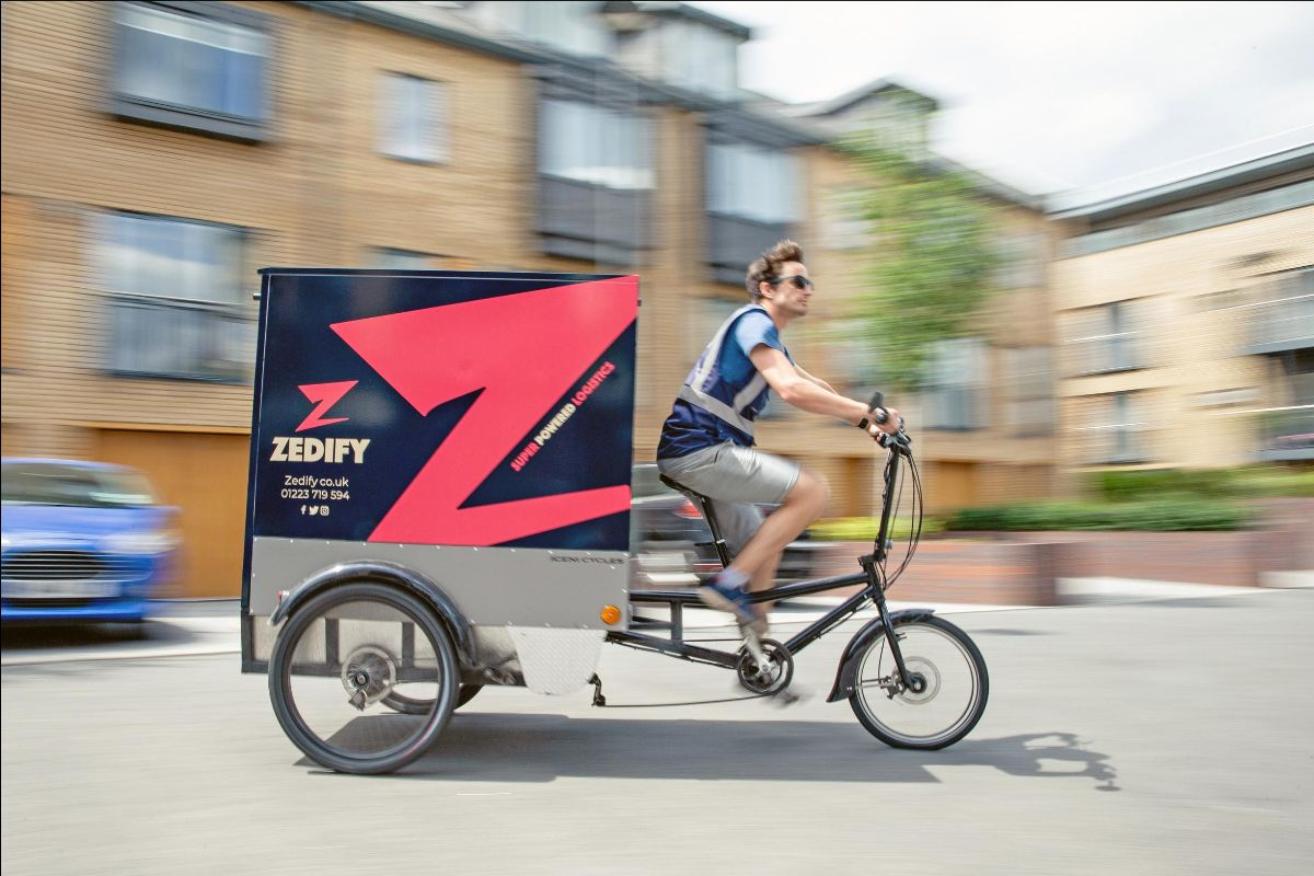 Zedify's cargo bikes can carry loads of up to 200kg