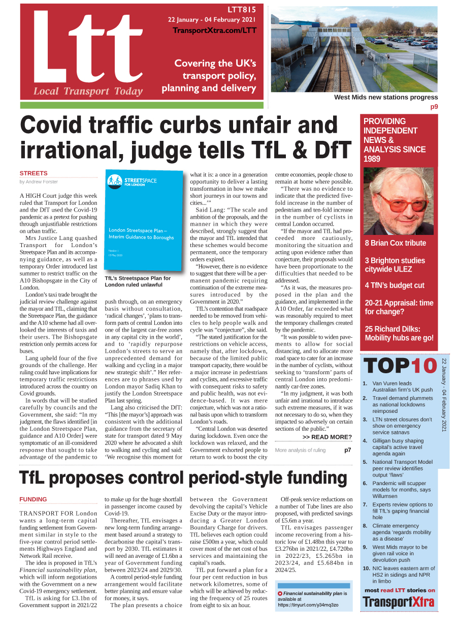 Local Transport Today Issue 815