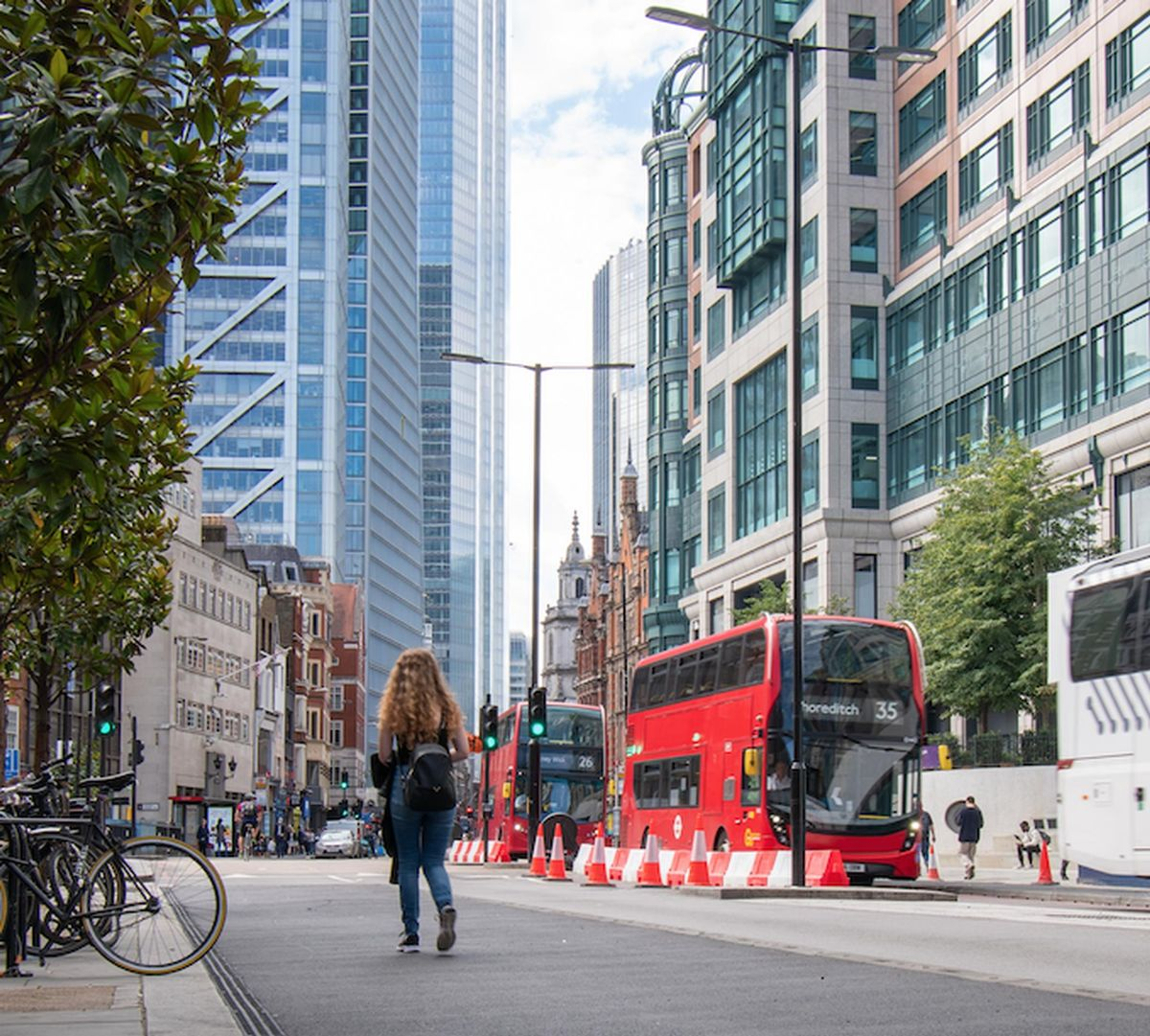 The temporary restrictions on Bishopsgate and Gracechurch Street in the City of London are a key part of the Mayor of London and TfL's world-leading Streetspace plans