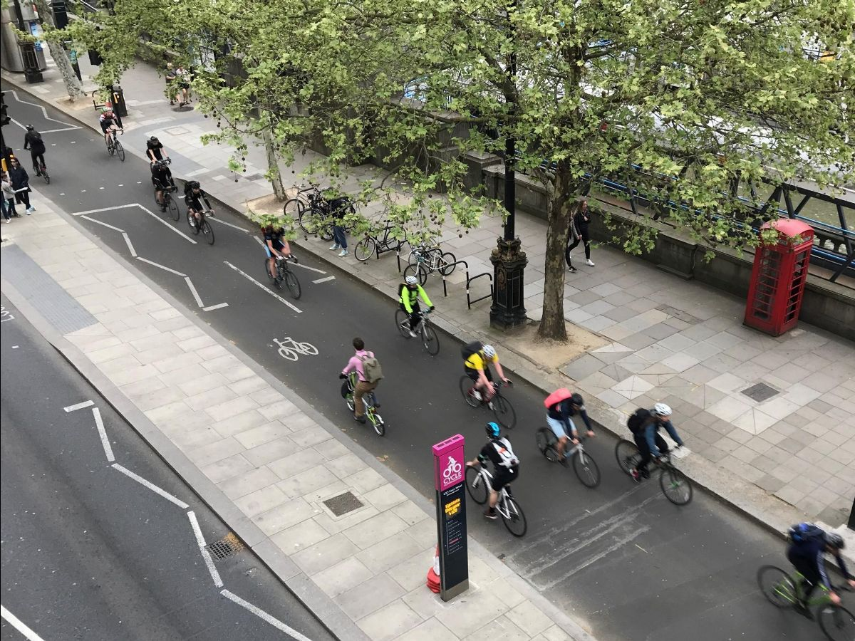 London built this cycle track and loads of people on bikes came. But sometimes it's empty