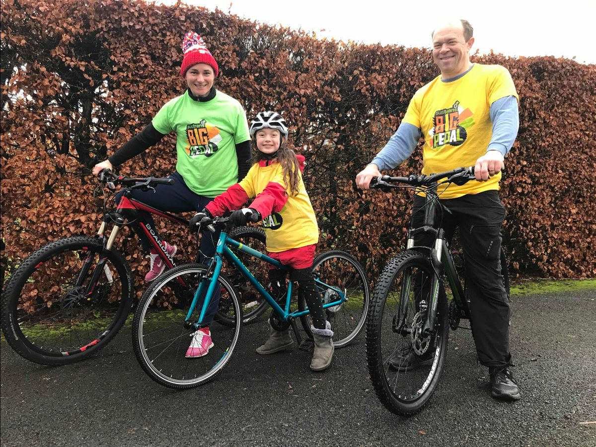 Dame Storey, with husband Barney Storey and daughter Louisa, is fronting Big Pedal 2021