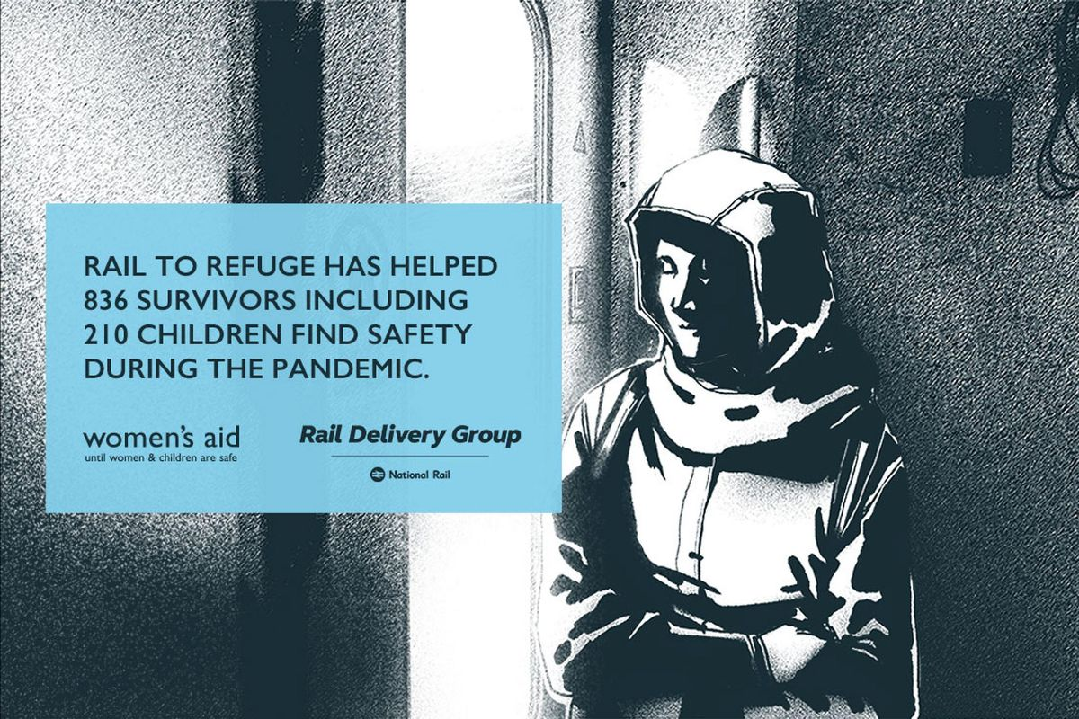 Rail to Refuge is backed by the Rail Delivery Group and Women`s Aid