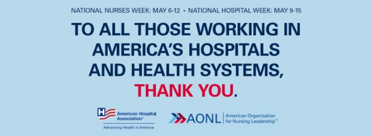 Nurses Week and Hospital Week graphic.