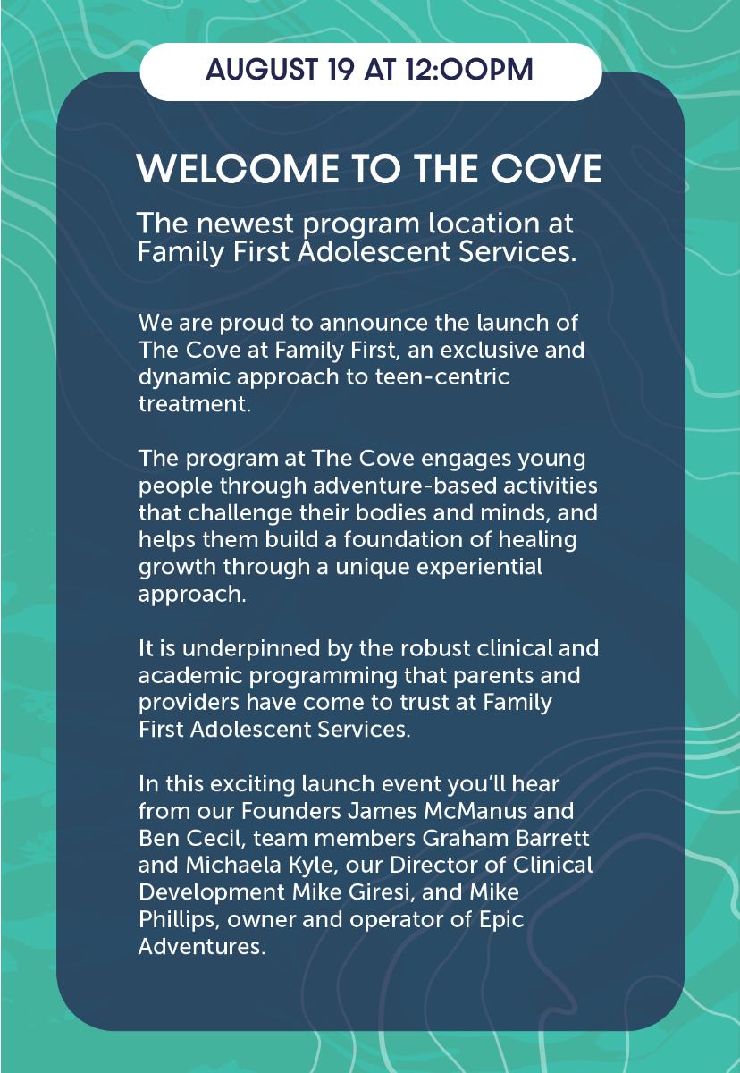 The Cove at Family First: our newest program location is ready to launch!