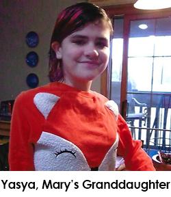 Mary Fox's Granddaughter, Yasya