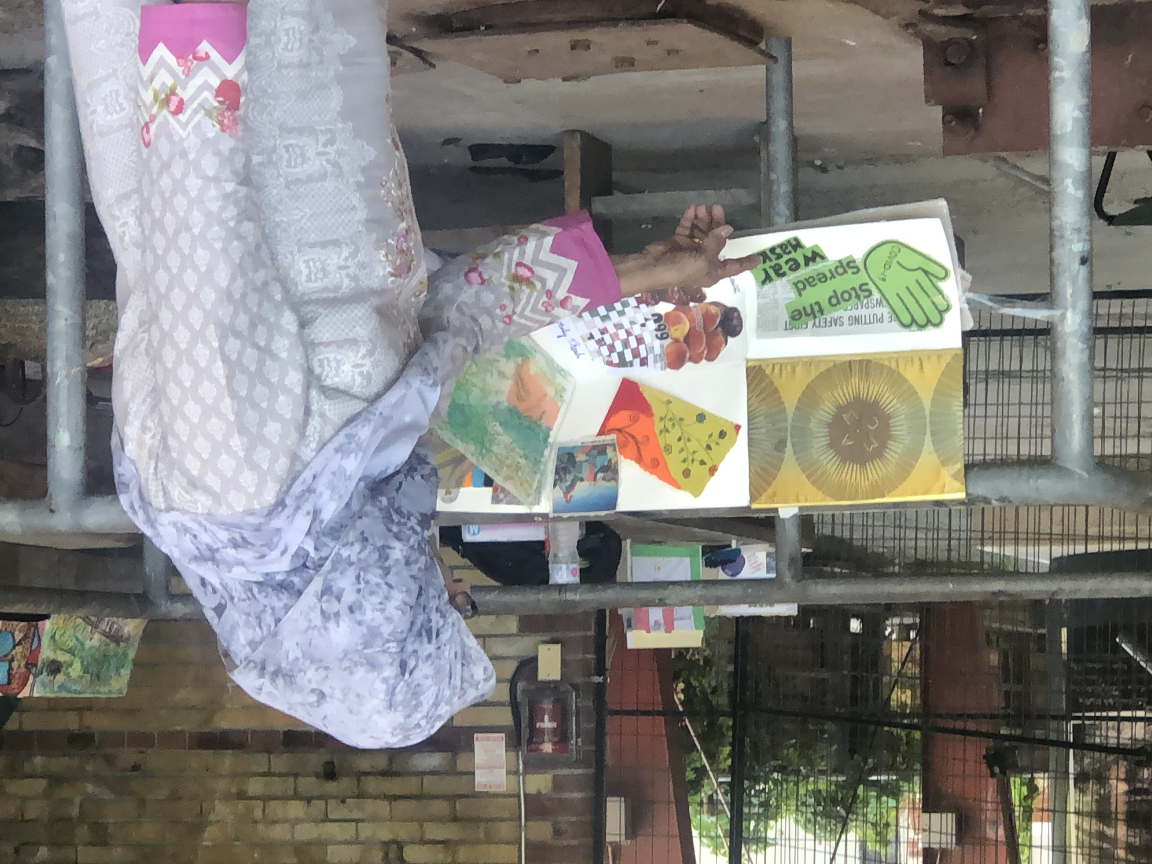Fouzia sharing her book at the EverGreen Brickworks