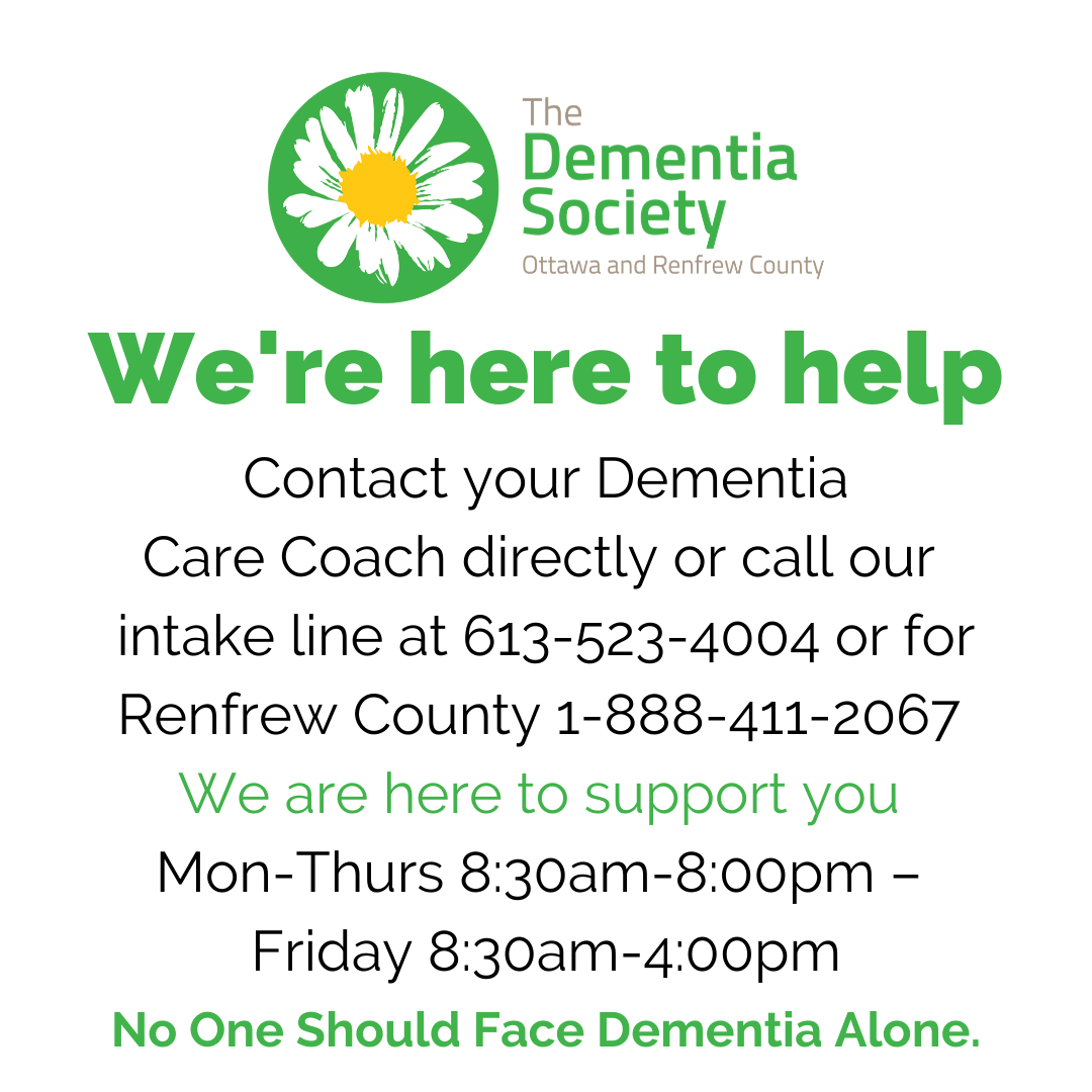 We're Here to help, contact information, the dementia society