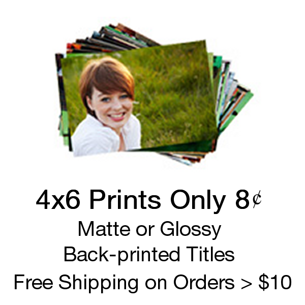 4x6 Prints Only 8 Cents each with Free Shipping on orders of $10+
