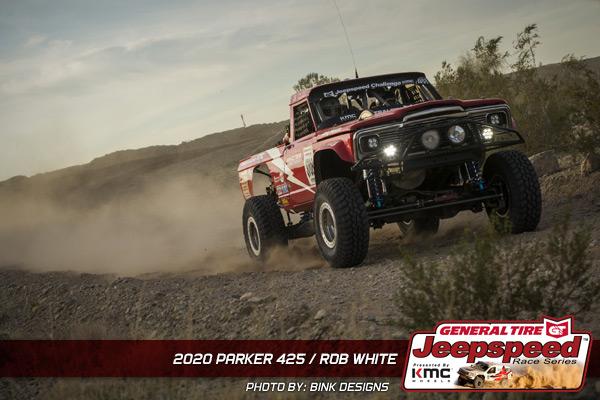 Rob White, Jeepspeed, General Tire, KMC Wheels, Parker 425, Bink Designs