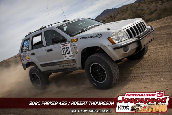 Robert Thomasson, Jeepspeed, General Tire, KMC Wheels, Parker 425, Bink Designs