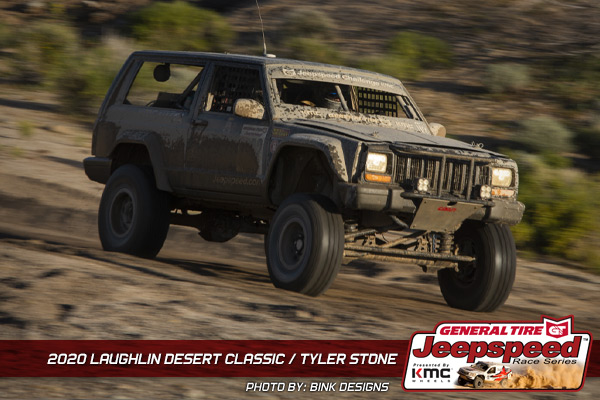 Jeepspeed, Tyler Stone, Laughlin Desert Classic, General Tire, KMC Wheels, Bink Designs