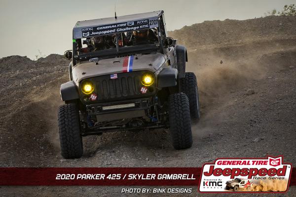 Skyler Gambrell, Jeepspeed, General Tire, KMC Wheels, Parker 425, Bink Designs