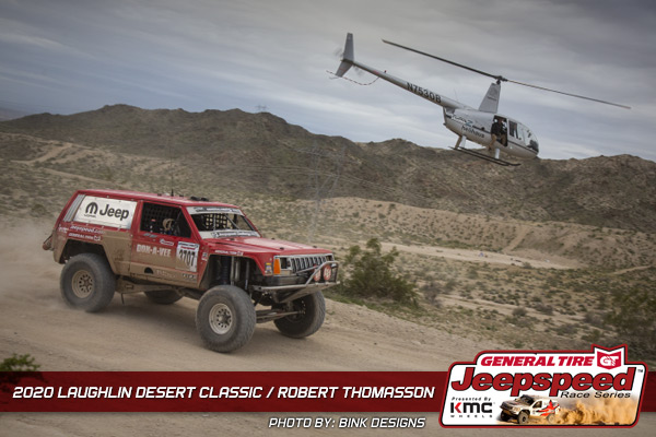 Jeepspeed, Robert Thomasson, Laughlin Desert Classic, General Tire, KMC Wheels, Bink Designs