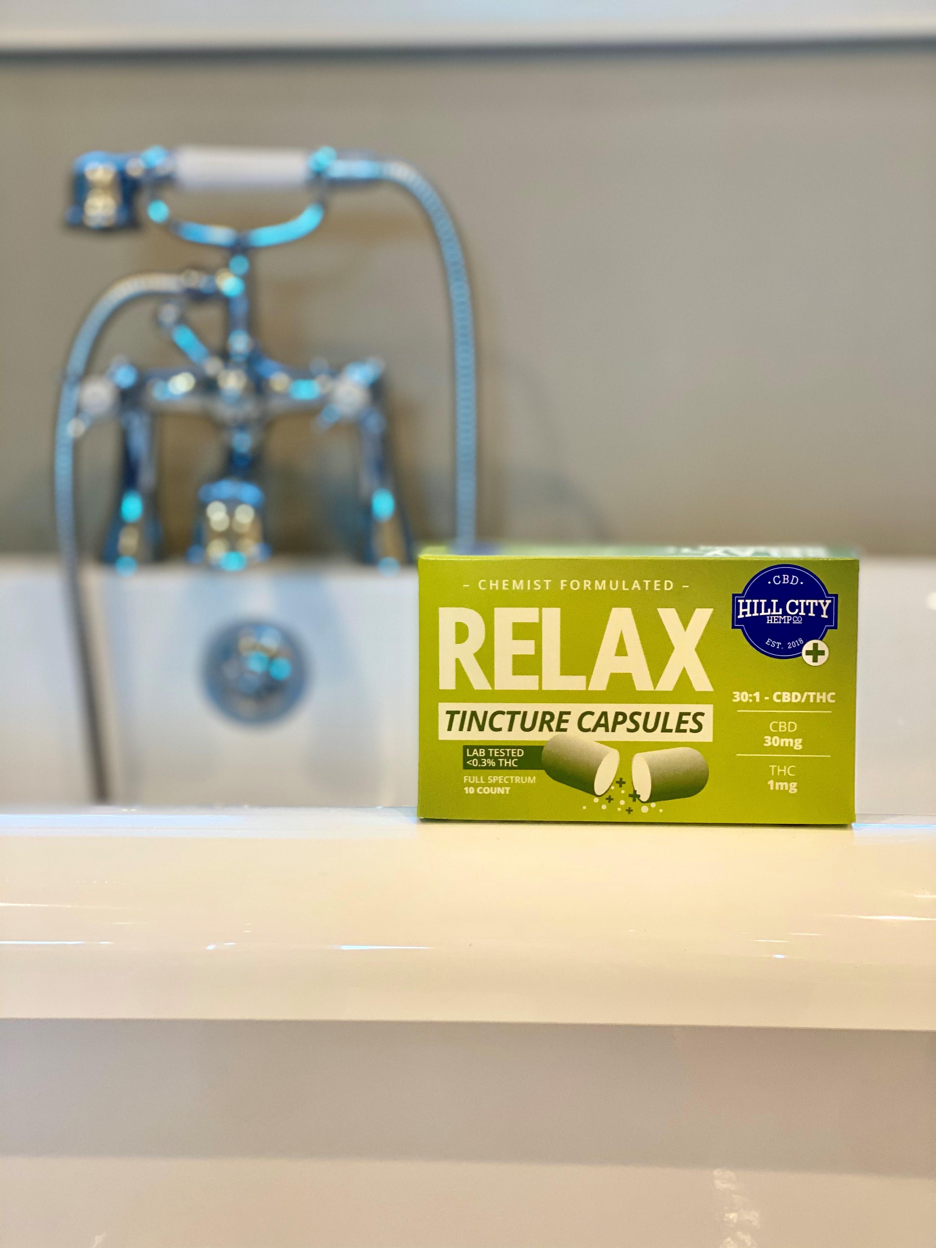 Hill City Hemp's Relax capsules