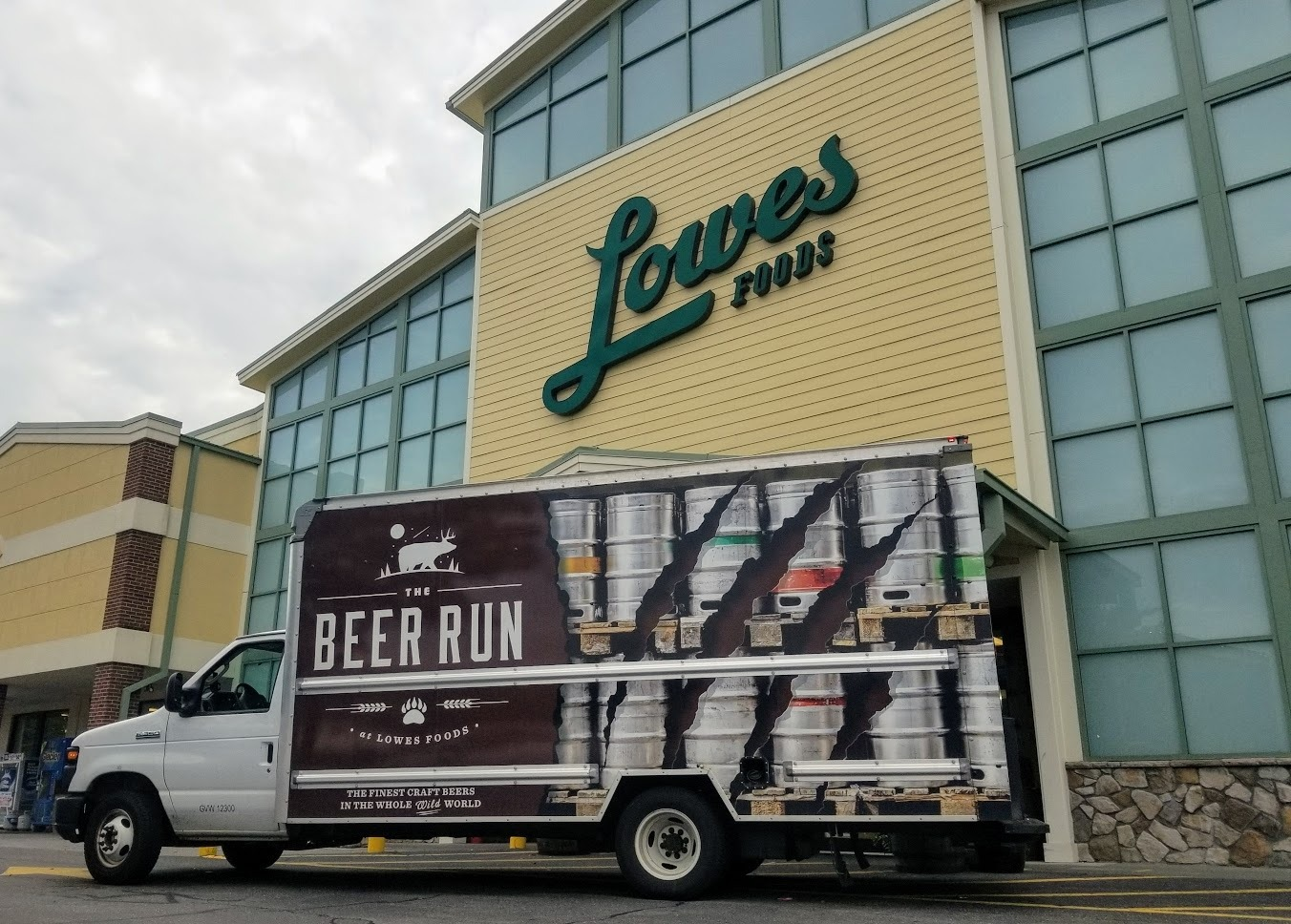 beer truck at store