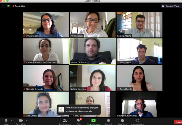 Virtual consultation screenshot
