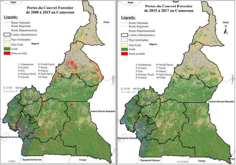 Panels from Cameroon forest maps