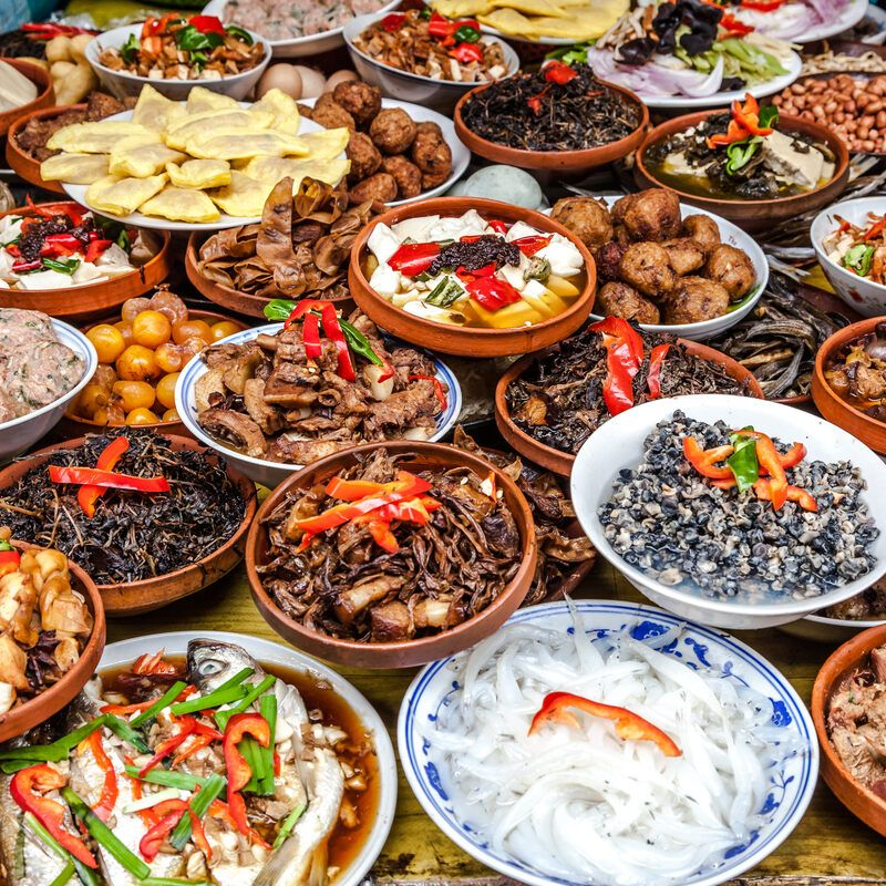 Traditional Chinese dishes