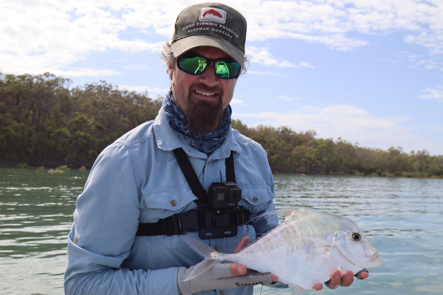 Diamond trevally on fly...a welcome sight on the flats