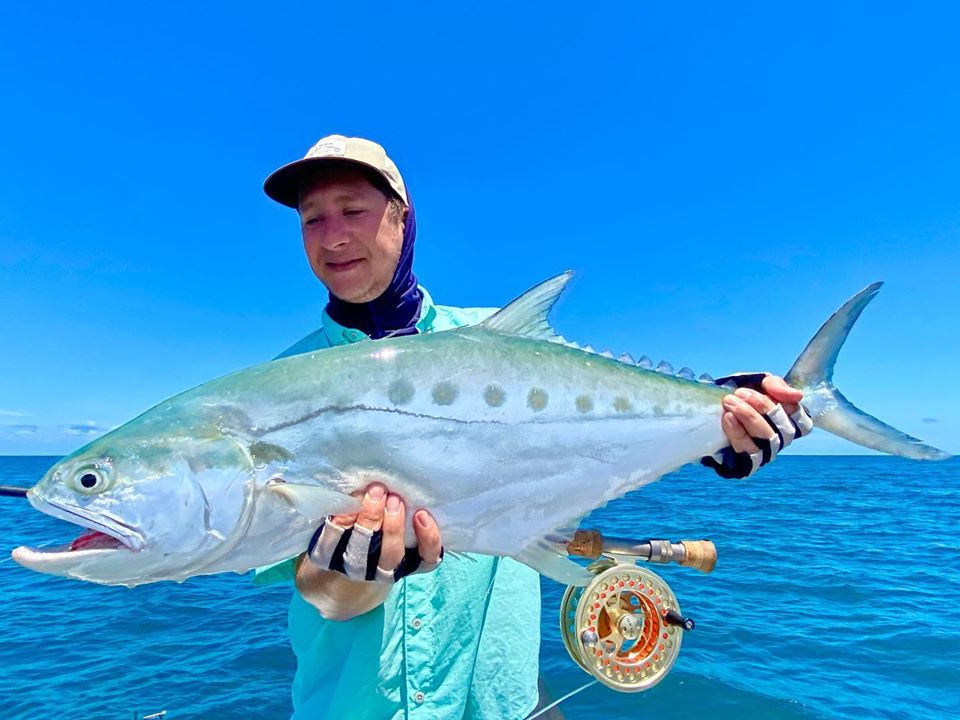 Charles with a queenfish on the fly