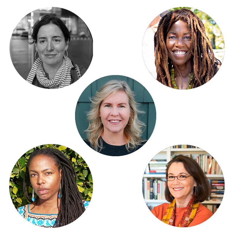 Images of Aimee Bender, Lisa Teasley, Dana Johnson, Susan Straight, Aimee Liu
