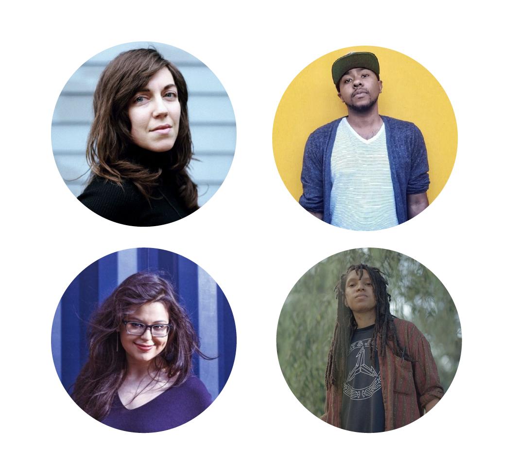 Images of Shira Erlichman, Cortney Lamar Charleston, Sumita Chakraborty, Taylor Johnson
