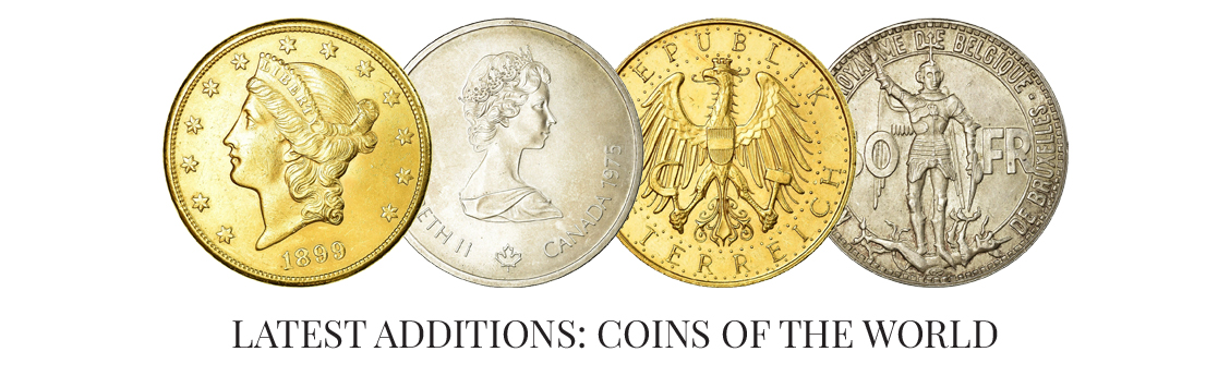 Latest additions: Coins of the world