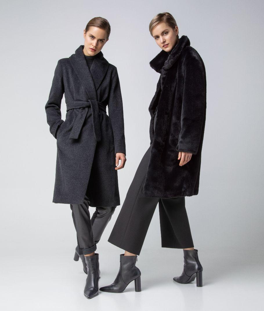 Two Akris designer Winter coats in Black