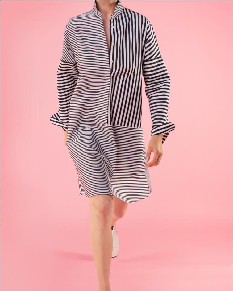 Akris punto striped summer dress
