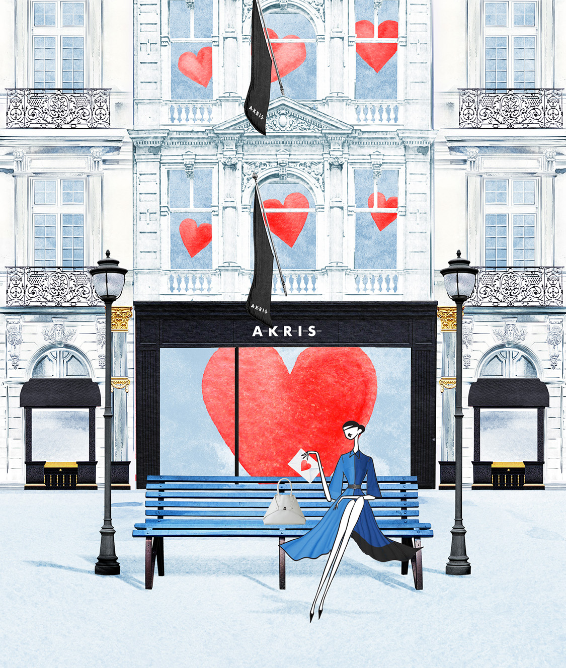 Akris Valentine's day Illustration