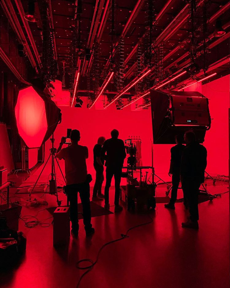 Behind the scene from the Akris Spring summer 2021 Film