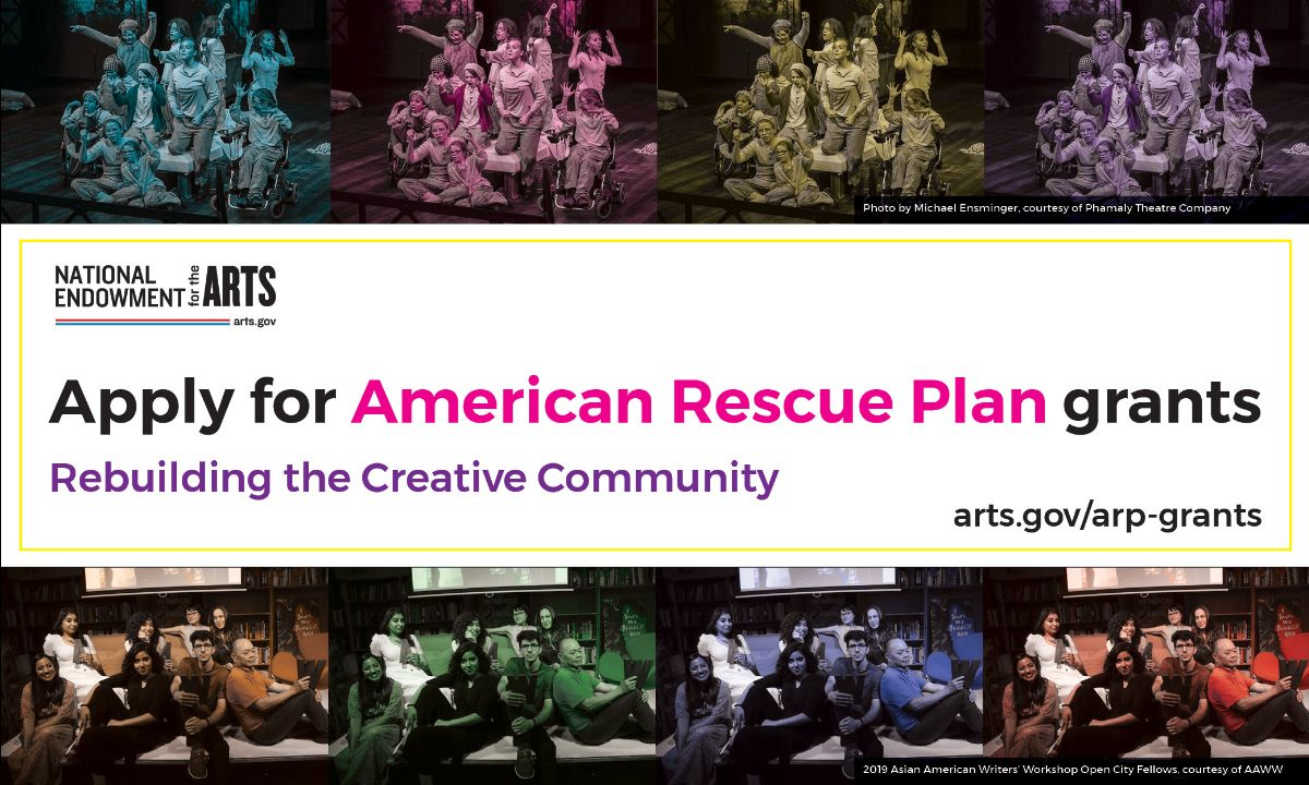National Endowment for the Arts American Rescue Plan grant application