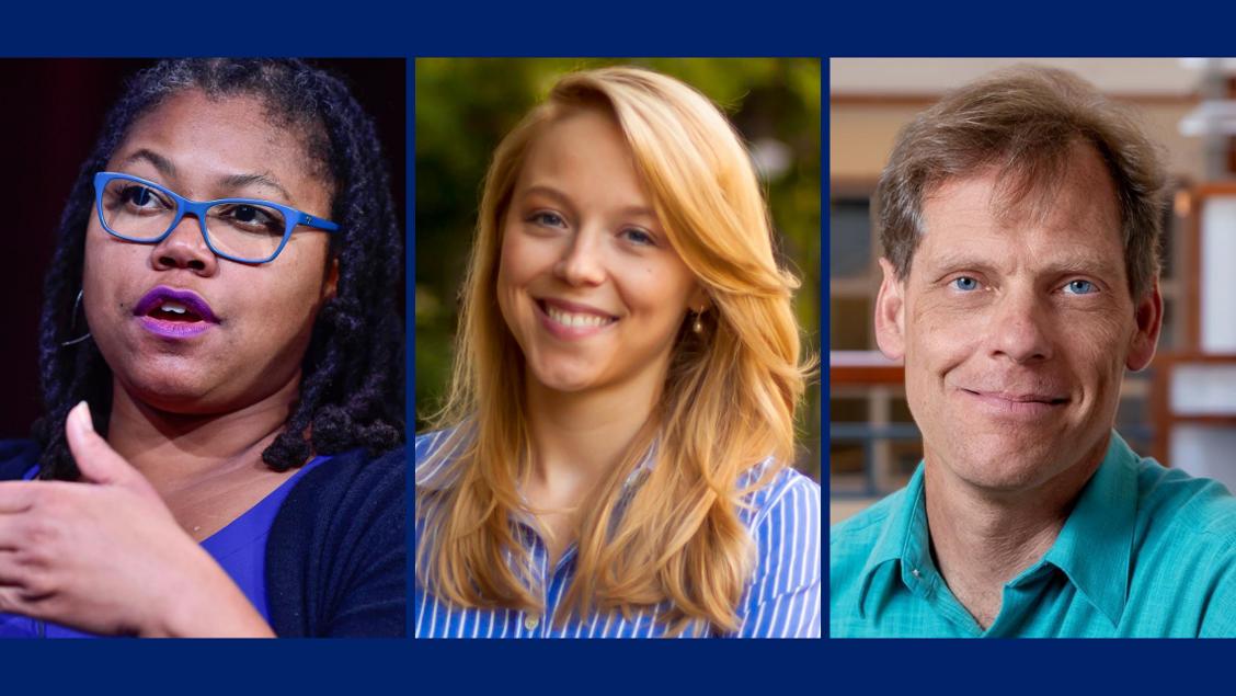 Professors Adriane Lentz-Smith, Ashley Jardina and Gunther Peck