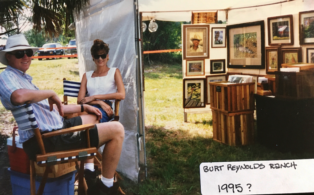 Wes and Rachelle Siegrist exhibiting in the 1990s