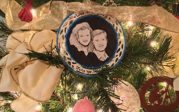 Christmas ornament by Wes Siegrist