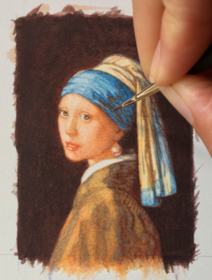 Girl with a Pearl Earring by Rachelle Siegrist