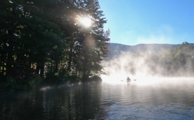 Wes Siegrist fishing in the mist