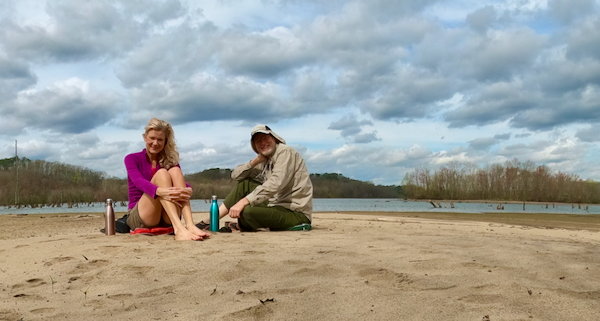 Wes and Rachelle Siegrist enjoying a lake beach in TN