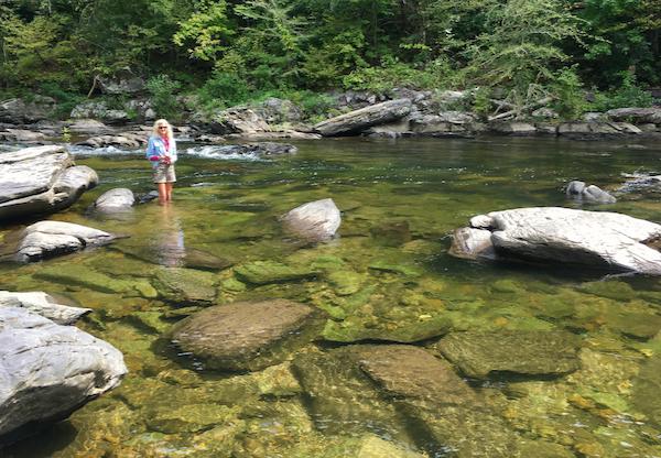 Rachelle Siegrist filming Submerged