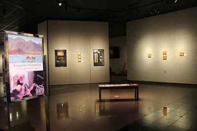 Exquisite Miniatures on display at the Shafer Art Gallery