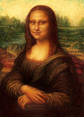 Mona Lisa after Da Vinci by Rachelle Siegrist