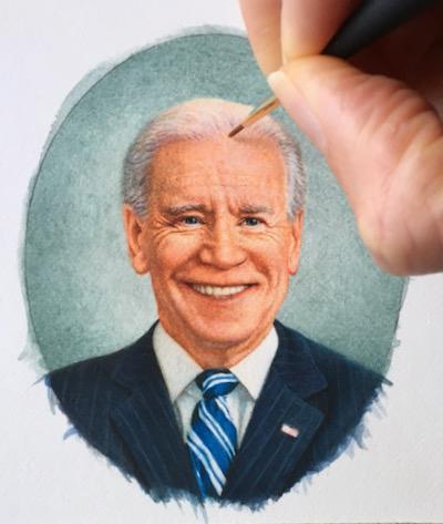 President Biden's portrait by Rachelle Siegrist