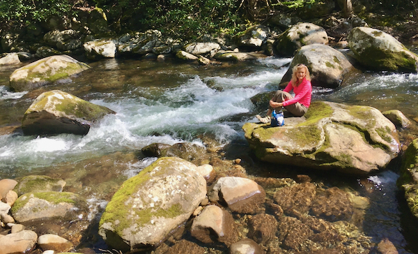 Rachelle Siegrist in the Smoky Mountains