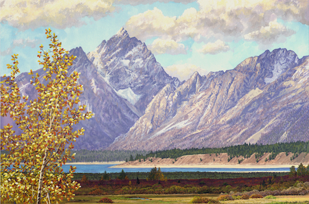 Tetons in September by Wes Siegrist