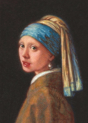 Girl with a Pearl Earring after Vermeer by Rachelle Siegrist