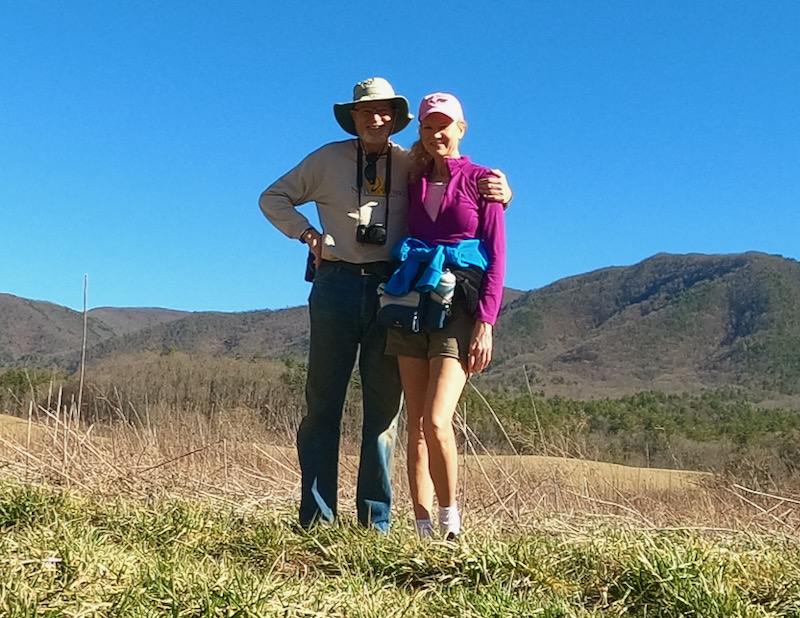 Wes and Rachelle Siegrist hiking