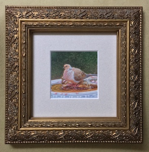 Among the Peach Blossoms framed