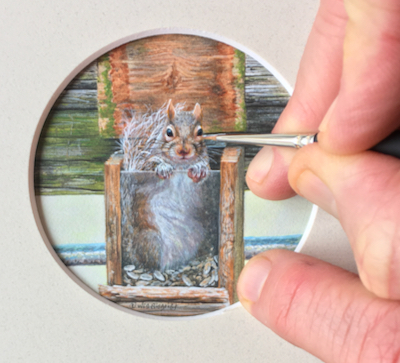 Squirrel Painting by Wes Siegrist