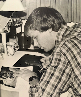 Wes Siegrist drawing in 1987