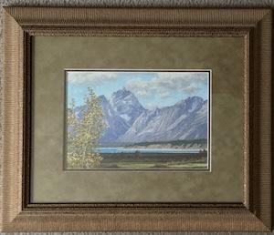 Tetons in September framed